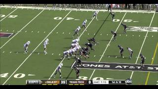 Brandon Weeden vs Texas Tech 2011
