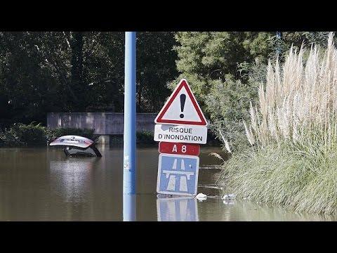 Γαλλική Ριβιέρα: Τις πληγές τους μετρούν οι πλημμυροπαθείς