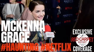 McKenna Grace  interviewed at #Netflix's The #Haunting of Hill House S1 Premiere Event