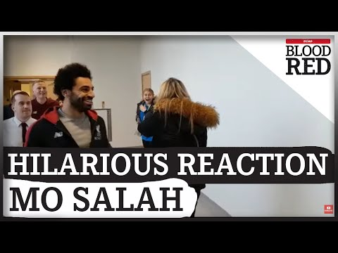 The Hilarious Reaction Liverpool FC's Mo Salah Got From Staff During Visit To Alder Hey