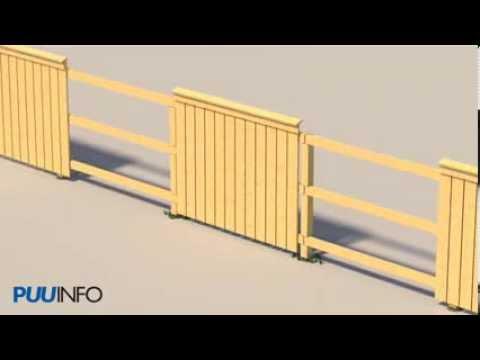 Aita animaatio Puuinfo - www.puuinfo.fi/tee-se-itse/aita (видео)