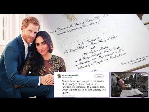 Harry & Meghan's wedding INVITATIONS have been officially issued for 600 lucky guests (видео)