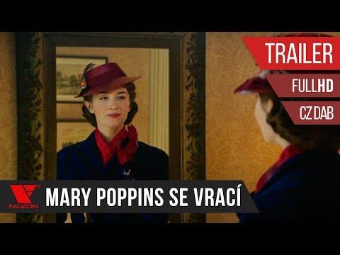 Držitelka Zlatého glóbu Emily Blunt jako Mary Poppins ve filmu Mary Poppins se vrací