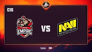 Team Empire vs Natus Vincere, MDL Disneyland® Paris Major CIS QL, bo3, game 1 [Adekvat & Inmate]