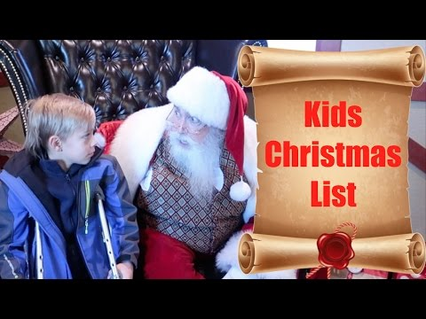 Video 🎅📜KIDS CHRISTMAS WISH LIST AND TELLING SANTA CLAUS WHAT THEY WANT FOR CHRISTMAS🎄 | DYCHES FAM download in MP3, 3GP, MP4, WEBM, AVI, FLV January 2017