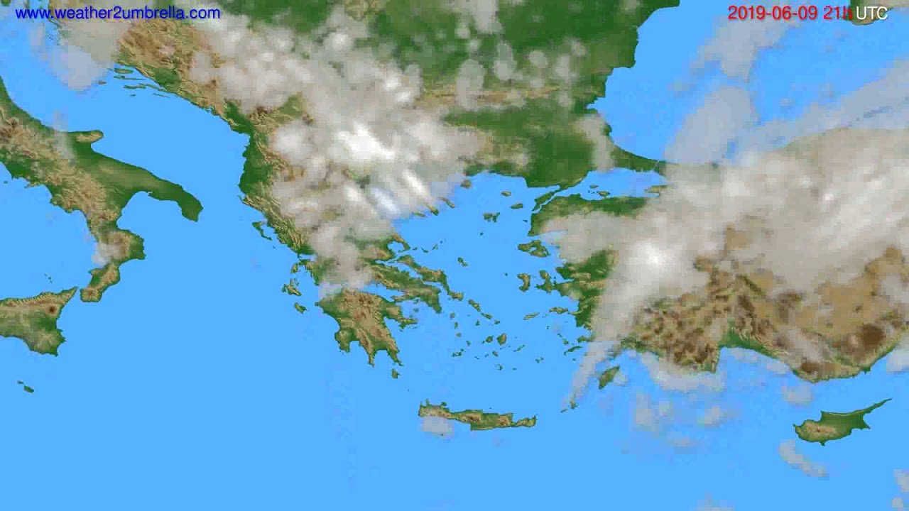 Cloud forecast Greece // modelrun: 00h UTC 2019-06-08