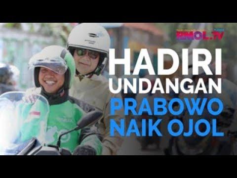 Hadiri Undangan, Prabowo Naik Ojol