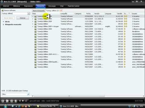 Video 6 de Ares 2.1.7.3041: Cómo descargar de Ares, parte 1