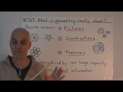 geometry - What is geometry really about? Is it pictures or visual patterns? Or constructions? Or simply theorems? In this lecture, we suggest that geometry is, at its ...