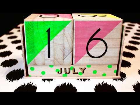 Make Your Own Wooden Block Calendar