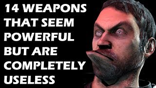 We've all had that one weapon in a game that looks amazing. You want to take that weapon everywhere and use it for everything. However, as powerful as said weapon may seem, it's actually pretty bad. Nay, it's actually useless when push comes to shove. Let's take a look at 14 such weapons that seem powerful but come off as pretty bunk.Thumbnail credit: https://facepunch.com/showthread.php?t=1343977SUBSCRIBE FOR MORE VIDEOS: https://www.youtube.com/user/GamingBoltLiveLIKE US ON FACEBOOK:https://www.facebook.com/GamingBolt-Get-a-Bolt-of-Gaming-Now-241308979564/?fref=tsFOLLOW US ON TWITTER:https://twitter.com/GamingBoltTweet