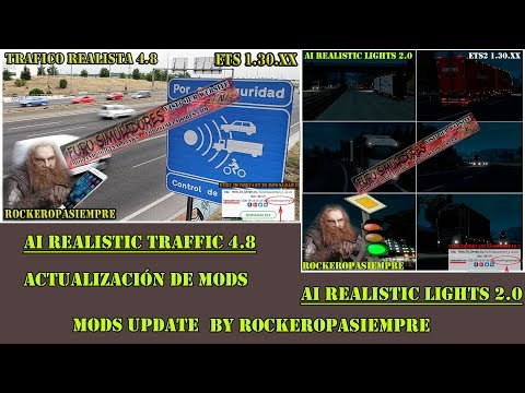 AI Realistic lights v2.0 for ETS2 1.30.x