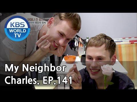 My Neighbor, Charles | 이웃집 찰스 - Ep.141 Decalcomania Twins Geny & Oleg from Russia. [ENG/2018.05.25] (видео)
