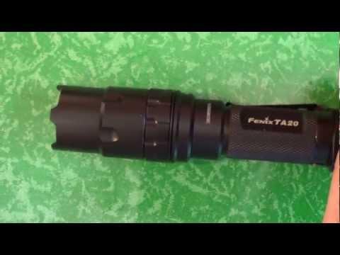Відеоогляд тактичного підствольного ліхтаря Fenix TA20