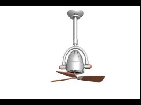 Video for Atlas Fan Diane Brushed Nickel Ceiling Fan with Wood Blades
