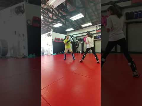 12 Year Old Muay Thai Girl Kicks 21 Year Old Tai Kwon Do Man In Nuts.