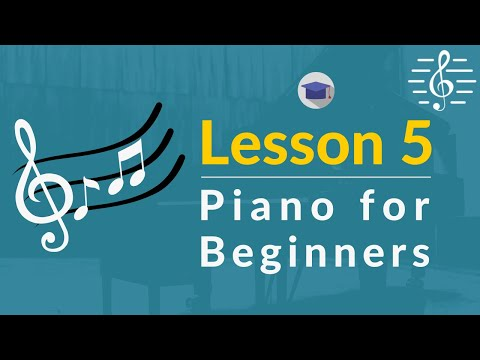 Play Piano - Lesson 5 (Learning Some More Treble Clef Notes)