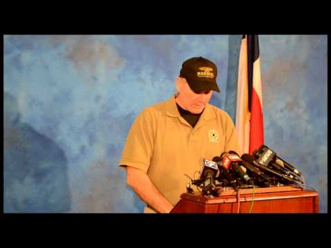 Senator Ted Cruz Speaks During Hays County Flood Press Conference