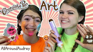 Hey guys! In today's video my sister JustJordan33 and I will be doing the chocolate pen art challenge! We will be competing against each other to see who can draw the best with chocolate! This was a super fun challenge and we had a ton of fun doing it!__Subscribe for videos every Thursday!☆http://www.youtube.com/channel/UCS0kA-D1M87dDfkWRl_DLJA?sub_confirmation=1Comment down below who you thought won each round!♡Like this video if you enjoyed!Here are some more videos I think you might like:Operation Slime Challenge: https://www.youtube.com/watch?v=FycQVuqxORwCoke and Mentos Challenge: https://www.youtube.com/watch?v=ZZD0C2Fu-vsLip Retractor Challenge: https://www.youtube.com/watch?v=IXKf89bTx_EFast Food Fondue Challenge: https://www.youtube.com/watch?v=oUgfiExrN4URainbow Ice Bath Challenge: https://www.youtube.com/watch?v=sM8tujZbsLUNever Have I Ever: https://www.youtube.com/watch?v=n340lu1BIpYTwisted Twister:  https://www.youtube.com/watch?v=XzR_twNyxSEHungry Hungry Hippos Game Twist: https://www.youtube.com/watch?v=Z0kuKpzfh0YFamily Lip Retractor Challenge: https://www.youtube.com/watch?v=y_ridJVmS8EYou can send fanmail! AllAroundAudreyP.O. Box 6792N. Logan, Utah 84341__Follow Me On:Instagram- https://instagram.com/allaroundaudrey/Twitter- https://twitter.com/AllAroundAudreyFacebook- https://www.facebook.com/AllAroundAudrey?ref=profilePinterest- https://www.pinterest.com/allaroundaudrey/Musical.ly- AllAroundAudreyYouNow: AllAroundAudrey__♡ My Sister's Channel: https://www.youtube.com/channel/UCHOMvu3axPhTG5zLqrHynig♡ My Brothers' Channel: https://www.youtube.com/channel/UCCHmMn-aFceiyb81Z-fu-zw♡ Our Family Channel: https://www.youtube.com/channel/UCbZgDzTkBQMkPWYBFESJ3sQ♡ Check Out My Previous Video: https://www.youtube.com/watch?v=2WmGP1WHaFU♡ For Business Inquiries: AllAroundAudrey99@gmail.com__Music Credits:Hep Cats by Kevin MacLeod is licensed under a Creative Commons Attribution license (https://creativecommons.org/licenses/by/4.0/)Source: http://incompetech.com/music/royalty-free/index.html?isrc=USUAN1500022Artist: http://incompetech.com/Itty Bitty 8 Bit by Kevin MacLeod is licensed under a Creative Commons Attribution license (https://creativecommons.org/licenses/by/4.0/)Source: http://incompetech.com/music/royalty-free/index.html?isrc=USUAN1100764Artist: http://incompetech.com/There You Go by Audionautix is licensed under a Creative Commons Attribution license (https://creativecommons.org/licenses/by/4.0/)Artist: http://audionautix.com/__Thanks for Watching!XOXO,Audrey