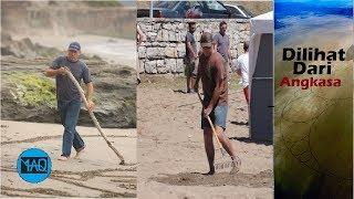 Video Orang ini Menggaris Pantai Selama Berhari hari, Setelah Dilihat dari Langit Ternyata Membentuk ... MP3, 3GP, MP4, WEBM, AVI, FLV September 2018