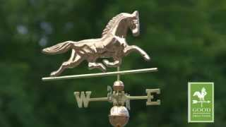 Patchen Horse Weathervane - Polished Copper - Good Directions