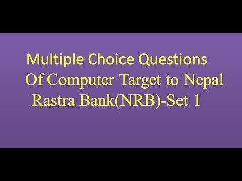 (Multiple choice questions of Computer(Set 1) - Duration: 33 minutes.)