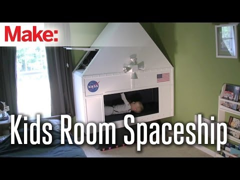 Dad Builds Sons Homemade Spaceship