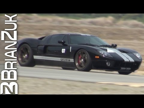 Heffnertwinturbo - BrianZuk records an insane black 1300 hp Heffner Ford GT Twin Turbo making multiple high speed runs at the 2014 Shift-S3ctor Airstrip Attack 5...video inclu...