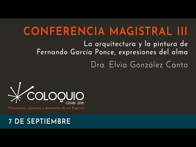 CONFERENCIA MAGISTRAL III. Dra. Elvia González Canto