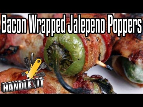 bacon - On this episode of Handle It, we're teaching you how create a classic greasy snack. You won't find these jalapeno poppers in the frozen food section... Order...