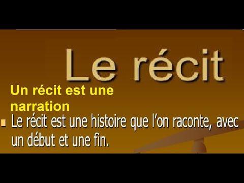 Francais , collège 1ère année, Le récit