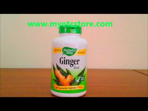 Myotcstore.com Review on Natures Way Ginger Root 550 Mg Capsules - 180 Ea