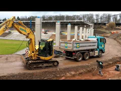 Umbau im Ludwigsparkstadion in Saarbrücken