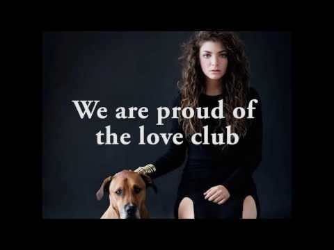 Lorde - The Love Club lyrics