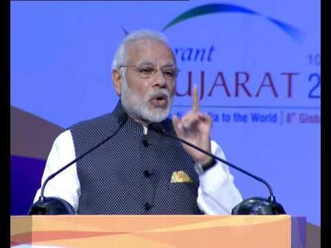 'वाइब्रेंट गुजरात-2017' में प्रधानमंत्री मोदी
