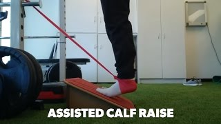Assisted calf raise for rehab