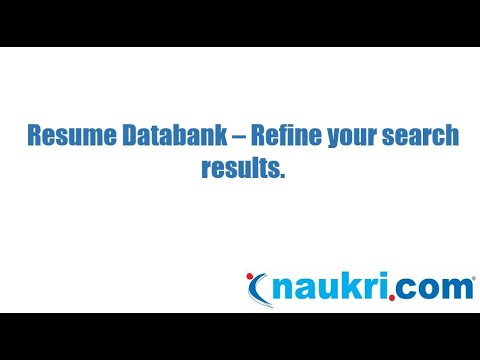 How to refine your search results in Naukri's database?
