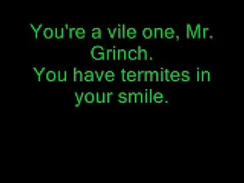 Tekst piosenki The Venetia Fair - You're A Mean One, Mr. Grinch po polsku