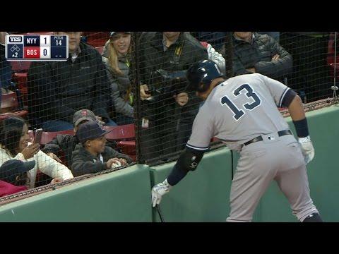 Yanks A Rod & Red Sox Big Papi deliver HR's for fans!
