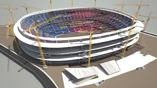 Camp Nou - Phased construction while continuing to play matches