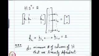 Mod-01 Lec-04 Minimum Distance Of Codes