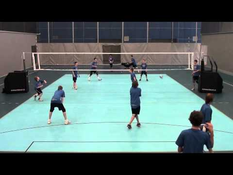 14U 2 Person Serve and Pass
