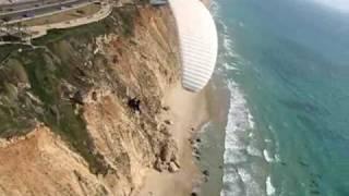 Netanya Israel  city pictures gallery : Paragliding flight in Netanya, Israel