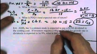 Financial Management: Supplemental Homework - Chapter 8