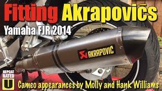 6. Fitting Akrapovics to the Yamaha FJR 2014