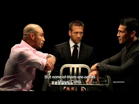 faceoff - Subscribe to the HBO Sports YouTube: http://itsh.bo/10qIJDl Miguel Cotto and Sergio Martinez meet face-to-face outside the ring for this exclusive interview ...