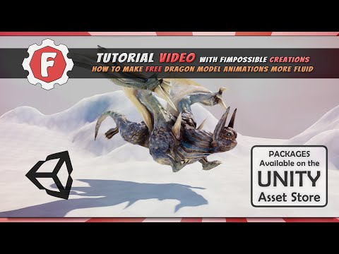 [Unity Tutorial] How to make free Dragon Model move more realistically with FImpossible Assets