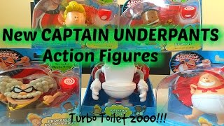 Captain Underpants Action Figure Toys!!! TALKING Turbo Toilet 2000 & 4 Figures Review Toys R Us!