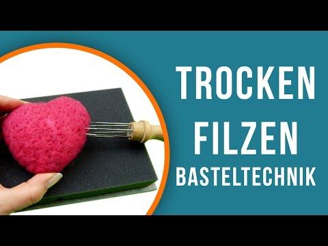 Wir zeigen dir wie man Trockenfilzt | trendmarkt24 Basteltechniken