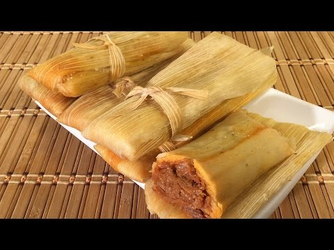 How To Make Tamales, Mexican Food Recipes, Chicken, Pork, Cheese Dough Masa, Sauce, Spreade